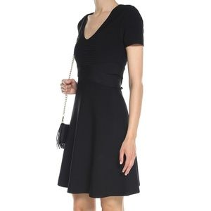 T by Alexander Wang Black Fit and Flare Dress